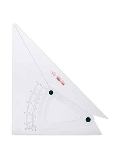 Koh-I-Noor Professional Adjustable Triangle, Clear Acrylic, 12 Inches, 1 Each (821712.12) ()