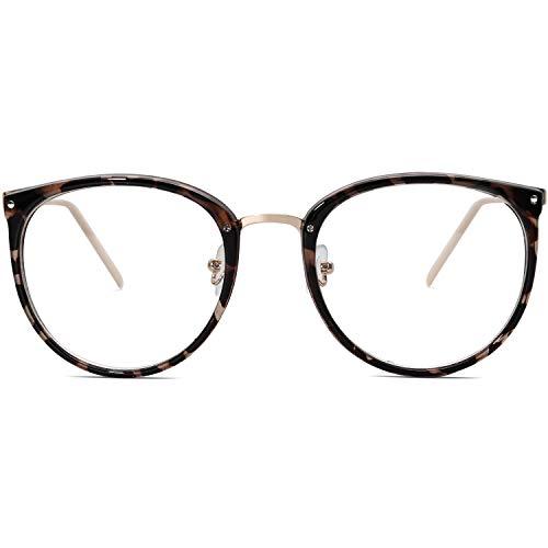 Amomoma Fashion Round Eyewear Frame Eyeglasses Optical Frame Clear Lens Glasses AM5001