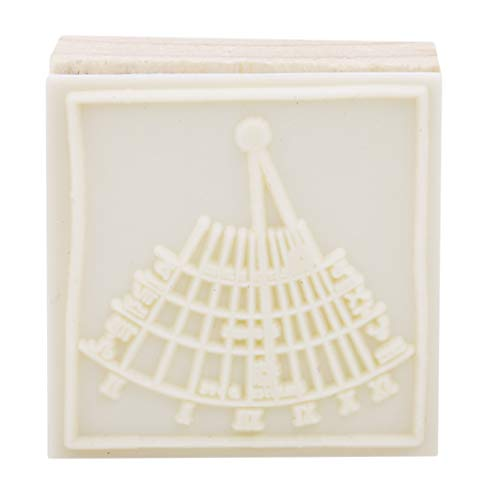 YouCY Wooden Rubber Stamps for Scrapbooking Planner Albums Diary Decoration Birthday Thinking Rays Graphics Stamp DIY Craft Nine Planet Stamp Toy,Sundial by YouCY (Image #3)