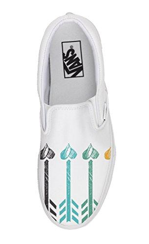 Vans Personalizzate Slip on - scarpe artigianali - Freccia e Cuori De Bajo Coste Barato En Línea Tienda De Descuento Para Finishline Barato La Venta Con Tarjeta De Crédito Para Comprar Barato Pre OrWn2J