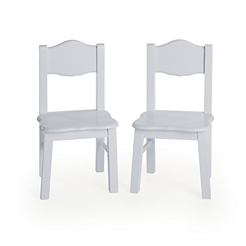 Guidecraft Classic Extra Chairs (Set of 2) - Gray: Kids School Educational Supply Furniture by Guidecraft