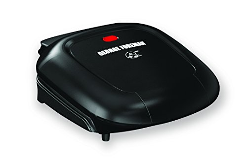 George Foreman GR0040BC 2-Serving Classic Plate Grill, Black