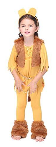 Lion Dance Costumes Pants (Girls Animal Lion Halloween Costumes Kids Boys Cartoon Role Play Cosplay Suits)