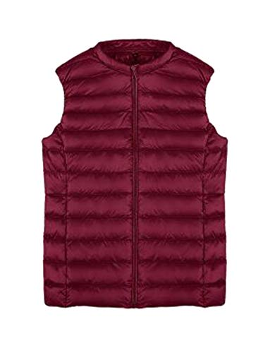 Wine Puffer Vest Packable Lightweight Women Vest Jacket Down Red EKU RnpwTCq8a