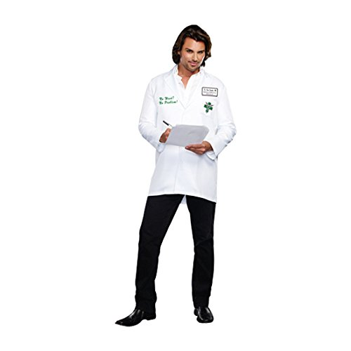 [Dreamgirl Men's Dr. Bud Smoker, White, Medium] (Bud Man Costume)