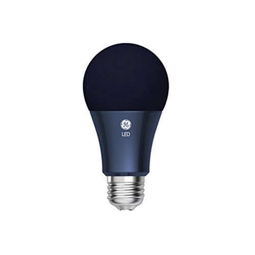 GE Lighting 92138 LED Black Light 7-watt (7-watt Replacement), 400-Lumen A19 Light Bulb with Medium Base, Black Light, 1-Pack - Blacklight Light Bulb