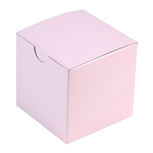 BalsaCircle 100 pcs 3-Inch Blush Wedding Favor Boxes for Wedding Party Birthday Candy Gifts Decorations Supplies