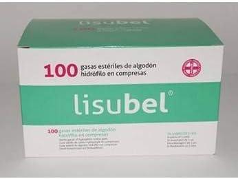 GASA ESTERIL LISUBEL ALGODON 100 UNID.: Amazon.es: Salud y cuidado personal