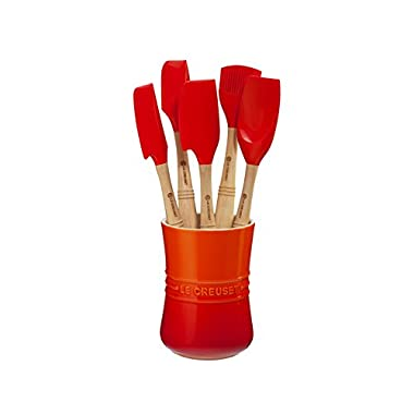 Le Creuset Revolution 6-Piece Silicone Kitchen Set, Flame