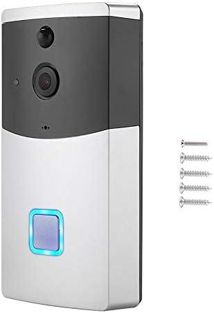 低電力ワイヤレスドアベル、ワイヤレスWIFIドアベルビデオカメラ電話リングインターホンナイトビジョンホームビルドセキュリティ、カメラドアベル