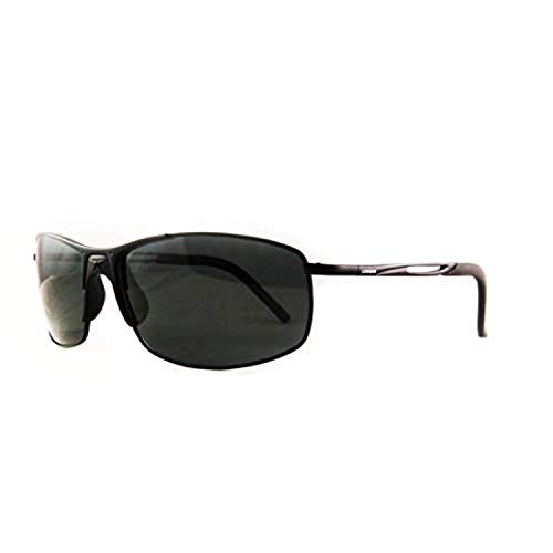 Carrera Huron Sunglasses HURONS-091T-Y2-6015 - Matte Black Frame, Gray Polarized Lenses, Lens - Frame Gray Polarized Lens