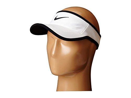 Tennis Visor - Nike Feather Light Tennis Visor White/Black Size Medium/Large