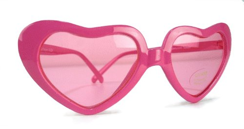 Pink Sweet Heart Glasses - One Size