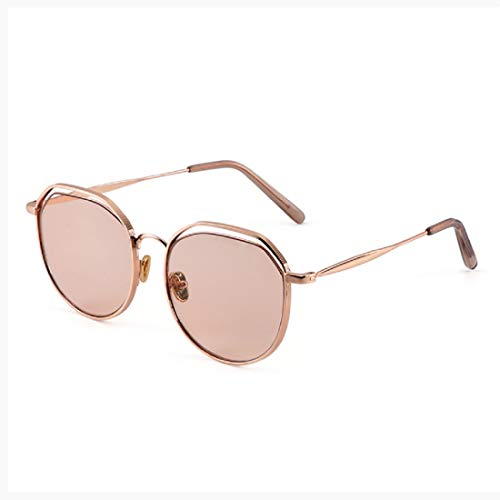 Classic Round Retro Sunglasses UV400 Circle Lens Metal Frame Women Fashion Mirrored Lens ()