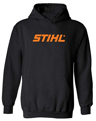 Stihl Hoodie Chainsaw Saw Lumber Outdoor Hunt Cabin Sport (XL, Black) from Generic