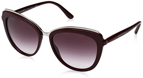 Dolce & Gabbana Women's Acetate Woman Cateye Sunglasses, Bordeaux, 57.0 - Dolce Gabbana Eye Glasses Cat