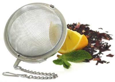 OKSLO 2.5 stainless steel mesh tea ball boxed with hang tab 2pk