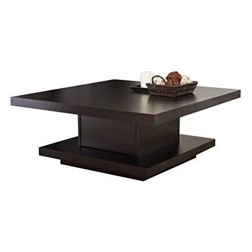 Iohomes Celio Square Coffee Table, Red Cocoa Overview