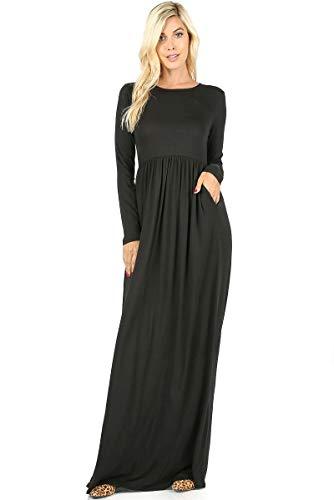 Side Black Half Shirt with Sleeves Zenana Long and Dress Pockets Premium Casual Women's T wqXX8PO0