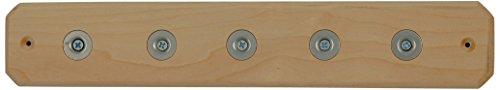 Ginkgo International 5-Position Magnet Knife Bar, 12-Inch, Maple