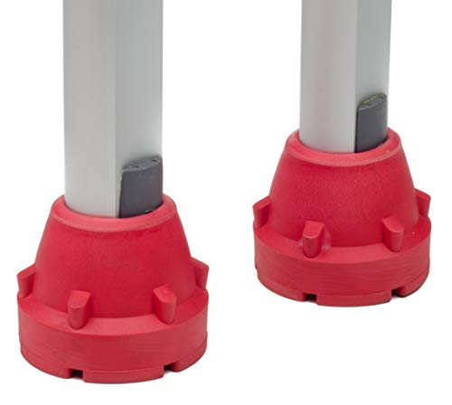 SureTip Red Crutch Tips & Cane Tip for Crutches (Pair of 2) - Extreme Grip - Heavy Duty Universal Sizing Fits Shafts of 5/8'' 3/4'' 7/8'' 1'' & More by SureTip (Image #2)