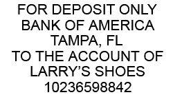 Custom For Deposit Only Stamp (6 Lines)