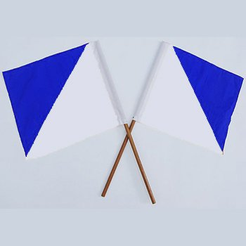 Semaphore Signal Flag Blue and White Set of -