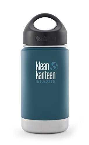 Klean Kanteen Wide Insulated Bottle with Stainless Loop Cup, Neptune Blue, 12-Ounce by Klean Kanteen