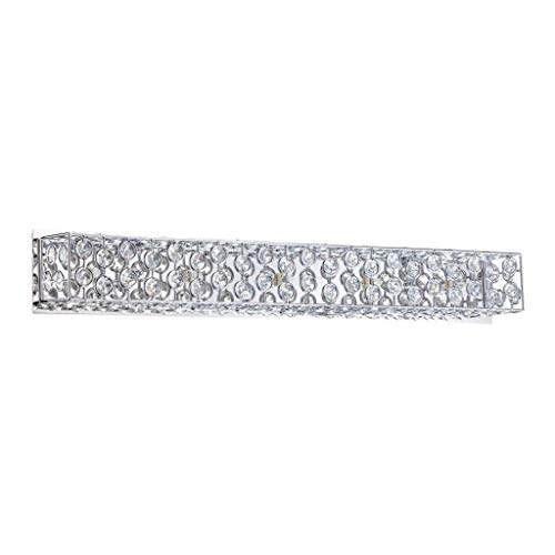 Kendal Lighting VF6600-5L-CH Palazzo 5-Light Vanity Fixture, Chrome Finish and Optic Crystal - Sconces 5l Vanity Wall