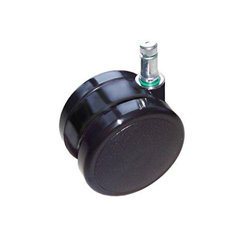 Steelcase Caster Set: Soft Casters for Hard Floors - Black (Set of 5)