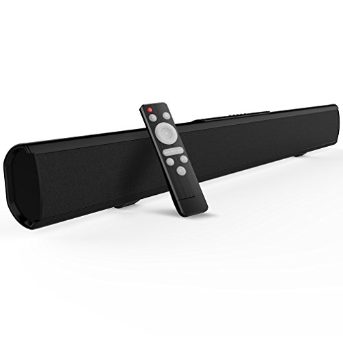 Sound bar, Meidong 2.1 Channel Sound bars for TV Strong Bass Wireless and Wired Bluetooth Audio Speakers 40 Watt, 37-Inch Included Optical Cable, Remote Controll