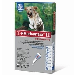 K9 Advantix Flea Control for Dogs Over 55 Pounds (4 Applications) (Green 4 Advantix Pack)