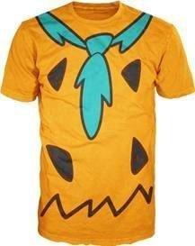 The Flintstones Fred Costume Texas Orange Mens T-shirt (Adult (Fred Flintstone Costumes)