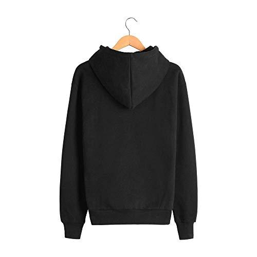 Solido E Di Easy Maglione Black Go Uomo Da Cappuccio Allentato Inverno Colore Shopping Autunno Con 8TXqrT