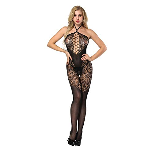 Wolfleague Lingerie Femme Sexy Erotique Ouvert Grande Taille Pas Cher Noir Bas BrodéS TêTe De Cou Ouverte Bas Lime…