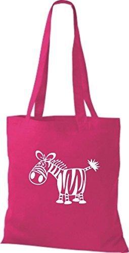 Shirtstown Stoffbeutel Tiere Zebra pink g3nMBGb
