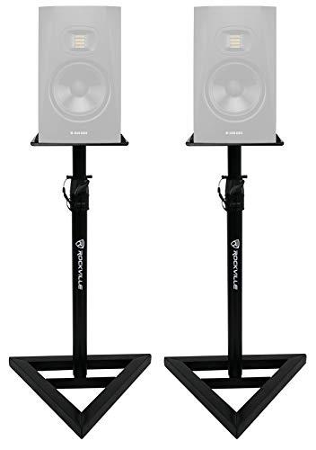 2 Rockville Adjustable Studio Monitor Speaker Stands For ADAM Audio T7V Monitors