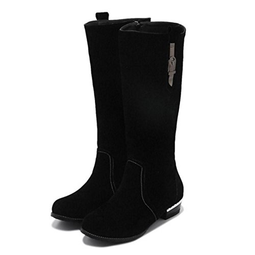 Women's Black Boots TAOFFEN Mid H Zipper pwdxFHq
