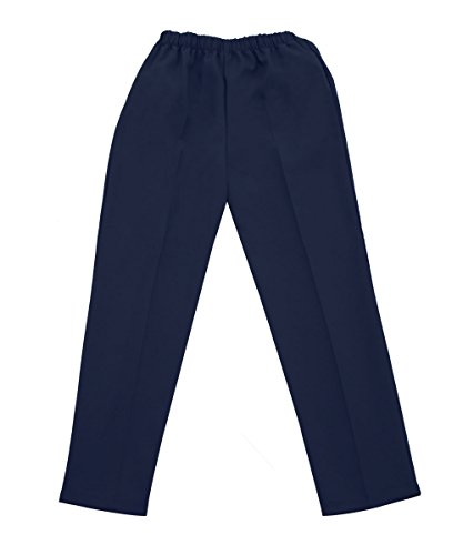 Adaptive Clothing Disabled - Silvert's Ladies/Womens Adaptive Clothing - Open Back Wheelchair Pants - Navy MED