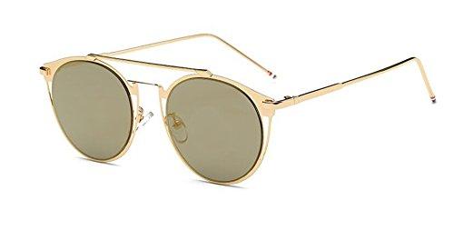 lunettes polarisées retro de style Or soleil Local rond Lennon du en vintage inspirées cercle métallique qEFEr