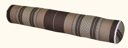 Thai cushion round bolster, pillow, sofa, imported from Thaïland, brown, relaxation, beach, pool, meditation garden (82412) by Wilai GmbH