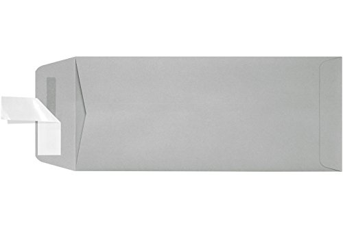 #10 Open End Envelopes w/ Peel & Press (4 1/8 x 9 1/2) - Gray Kraft (50 Qty.)   Perfect for Small Business Use and Invitations