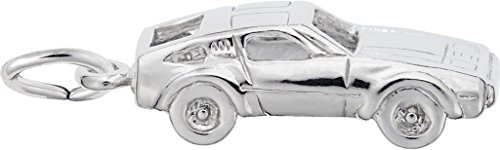 Rembrandt Sports Car Charm - Metal - Sterling (Sterling Silver Car Charm)
