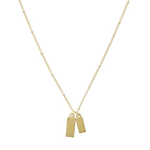 (HONEYCAT Tag Together Necklace in Gold, Rose Gold, or Silver | Minimalist, Delicate Jewelry (Gold))