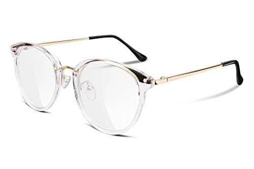 FEISEDY Women Vintage Glasses Frames Round Non Prescription Eyewear Clear Lens ()