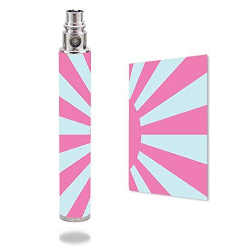 Decal Sticker Skin WRAP - Vision Spinner VV 1300 - Pink and Teal Sunburst Flag
