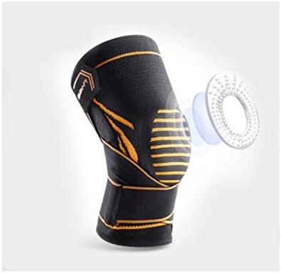 Kaiyitong001 スポーツ膝パッド、男性と女性が登山レギンス、ダブルスプリング調整、ブラック(1パック)を実行して、通気性のメニスカス傷害春のサポート圧縮ディープ足首の関節炎の保護具を温めます,スタイリッシュで絶妙 (Color : Black, Size : L-XL)