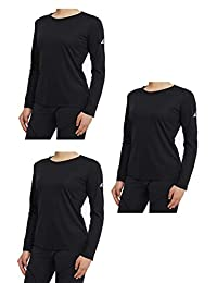 TEXFIT Women's 3-Pack Quick Dry Long Sleeve Shirts, Moisture Wicking (3pcs Set)