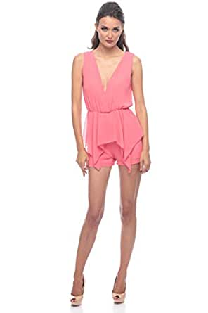 Pink Polyester Babydoll & Playsuit