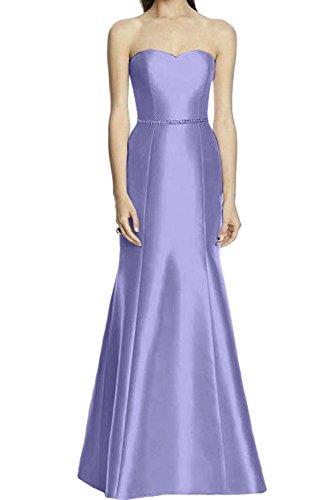 Ivydressing Abendkleider Bodenlang Neu Lavender Meerjungfrau Ballkleider Promkleider Traegerlos Herzform Satin 2017 Damen w46arqvw